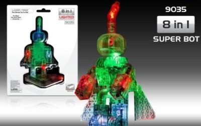 Laser Pegs 8In1 Super Bot Building Set