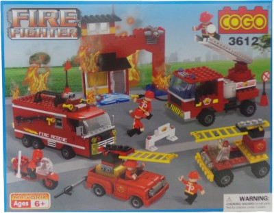 Toy Mall Cogo Fire Fighter Block Set-3612