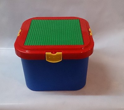 Romanoff Storage Container With Building Plate For Lego & Bricktek