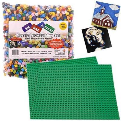 SCS Direct Brick Building Mosaic Set Scs 2000 Small Single Pieces