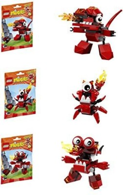 Lego Mixels Series 4 Bundle Set of Infernites, Meltus (41530), Flamzer (41531) and Burnard (41532)