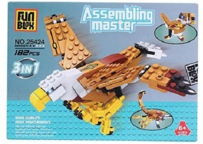 Fun Blox 3 in 1 Assembly Master 182 Pieces