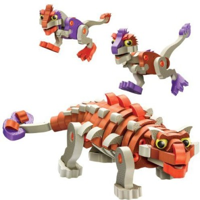 Bloco Toys inc. Blocoankylosaur And Young Raptors Building Kit