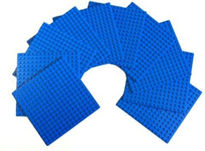 MinifigFans 5Inch 5Inch Blue Dots Baseplate Legocompatible 10 Piece