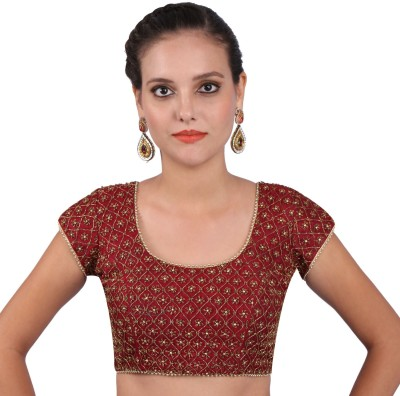 Yosshita & Neha Round Neck Women's Stitched Blouse at flipkart