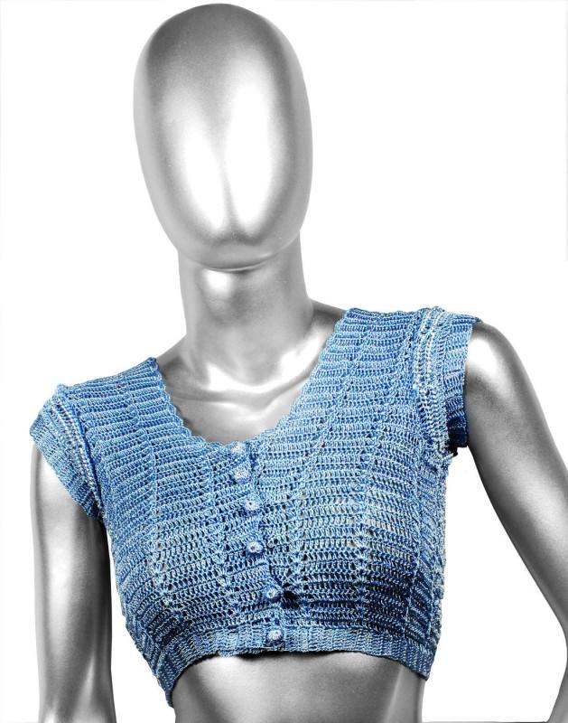 moKanc Round Neck Women's Stitched Blouse