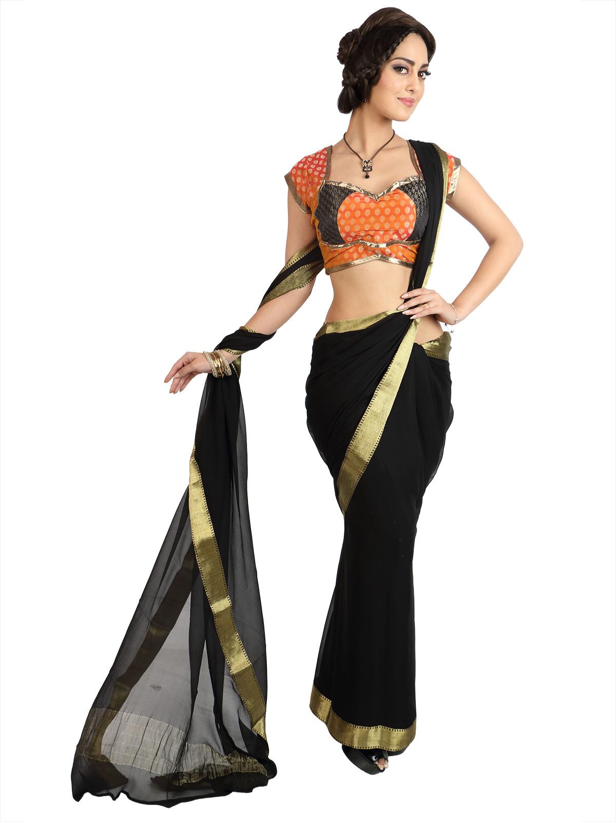 Mina Bazaar Sweetheart Neck Womens Stitched Blouse