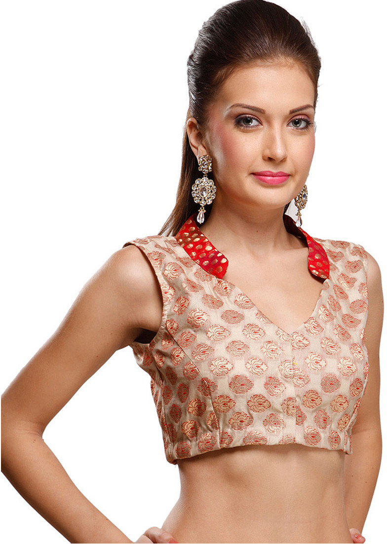 Rutbaa V-Neck Womens Stitched Blouse