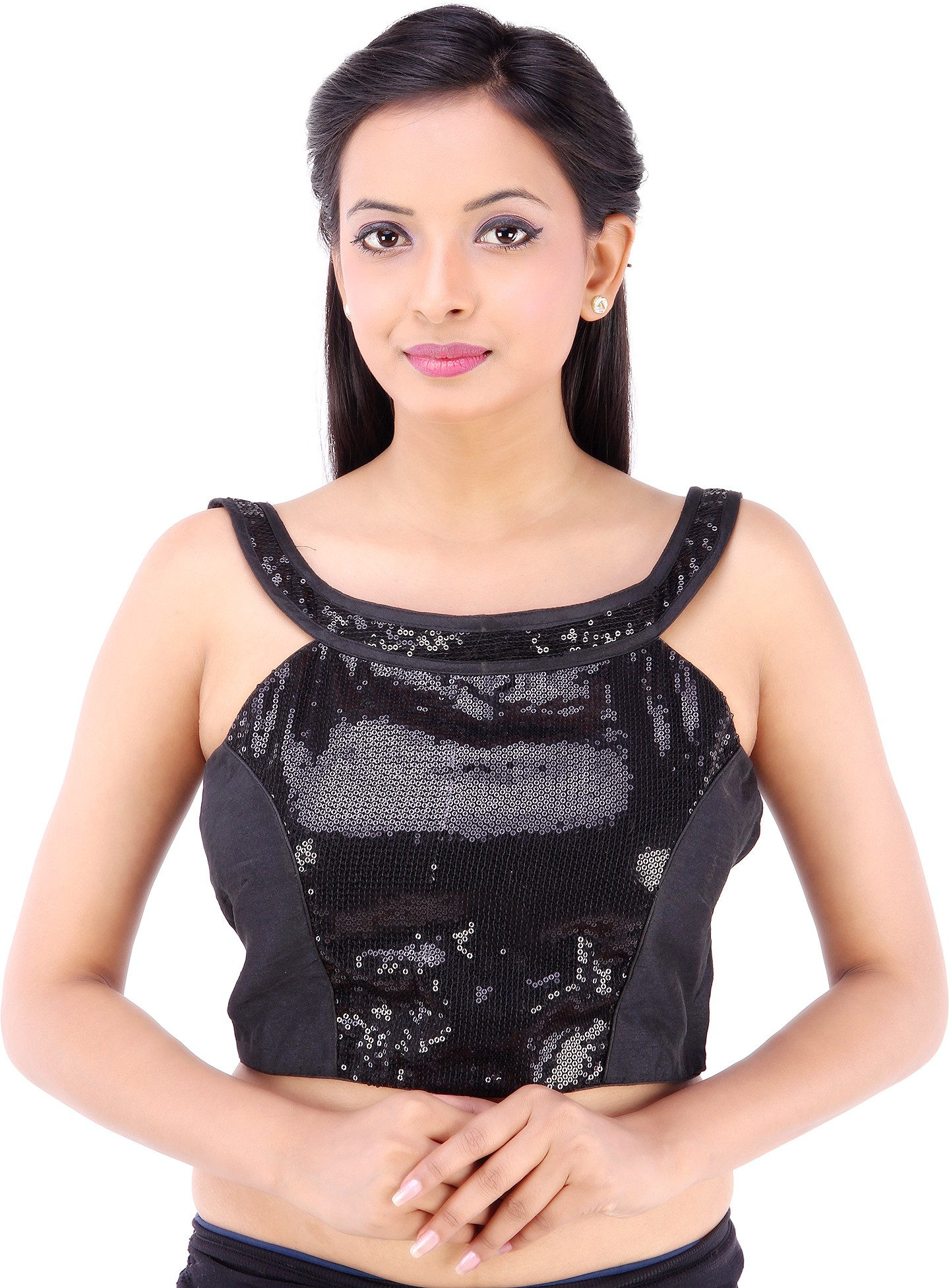 Inblue Fashions Round Neck Womens Stitched Blouse