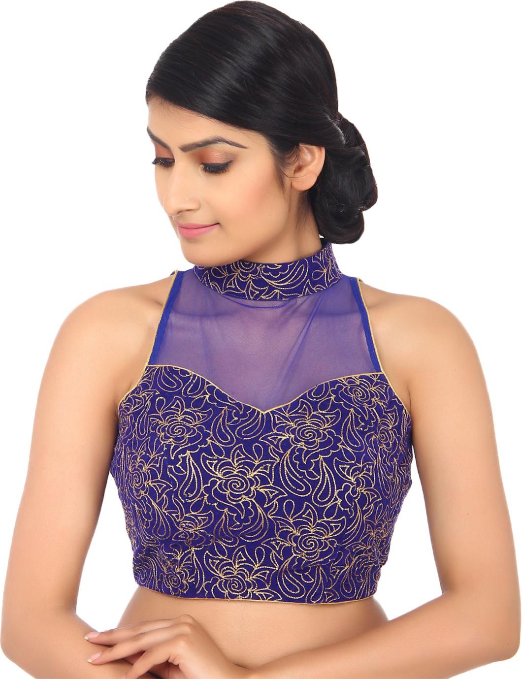 Amodini Band collar Womens Stitched Blouse