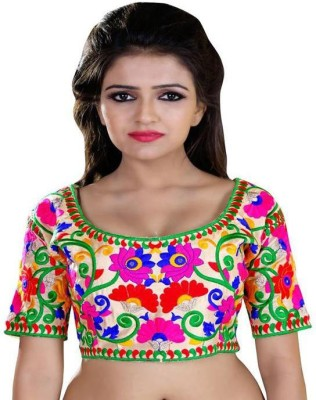 Shreeji Designer Cotton Embroidered Blouse Material