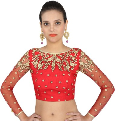 Yosshita & Neha Boat Neck Women's Stitched Blouse at flipkart