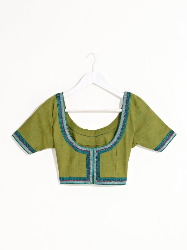 Fabindia Round Neck Women's Stitched Blouse