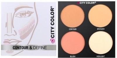 city color COLOR Contour & Define Palette - 4 Shades(Multicolor)