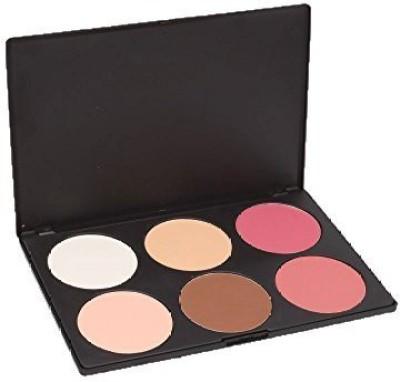 Leegoal Professional 6 Color Makeup Cosmetic Blush Blusher Contour Powder Palette