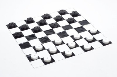 Garden Games Junior Jumbo Checkers (Played On A 4, X 4, Mat) Board Game