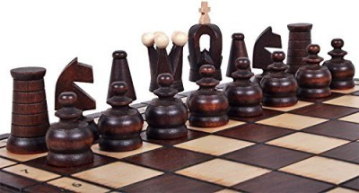 ChessCentral The Kasbah Unique Wood Chess Set W/ & Storage Board Game