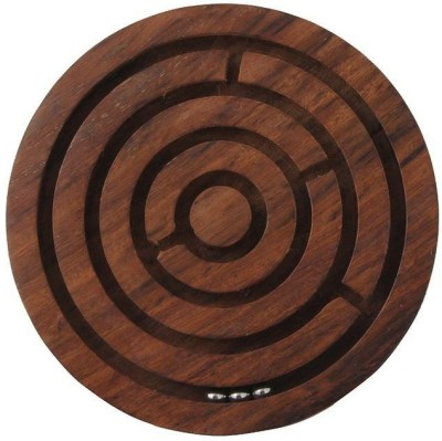 Crafts,man Labyrinth, Ball-in-a-maze Puzzles, Handcrafted in India Board Game
