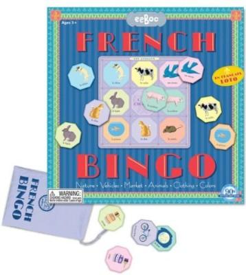 eeBoo French Bingo Board Game