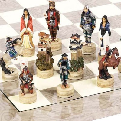 Bello Games New York, Inc. Japanese Samurai Hand Painted Chessmen Board Game
