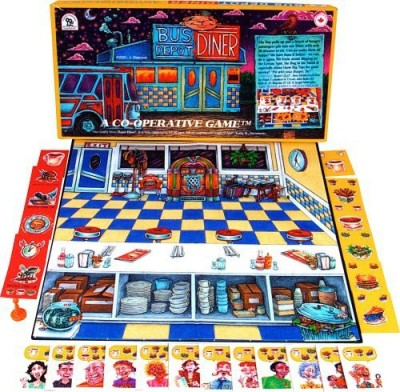 Family Pastimes Bus Depot Diner A 3In1 Cooperative Board Game