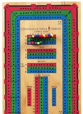 Bello Games New York, Inc. Bellocontinuous Triple Track Cribbage Board Game