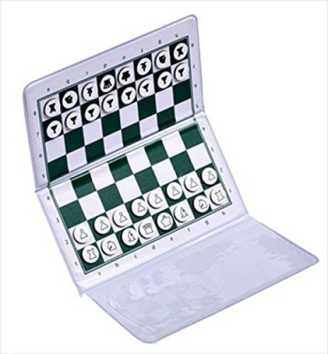 The House of Staunton, Inc. Checkbook Magnetic Travel Chess Set Board Game