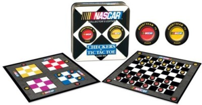 USAopoly Nascar Checkers/Tic Tac Toe Combo Board Game