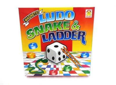 Techno Magnetic ludo snake ladder Board Game