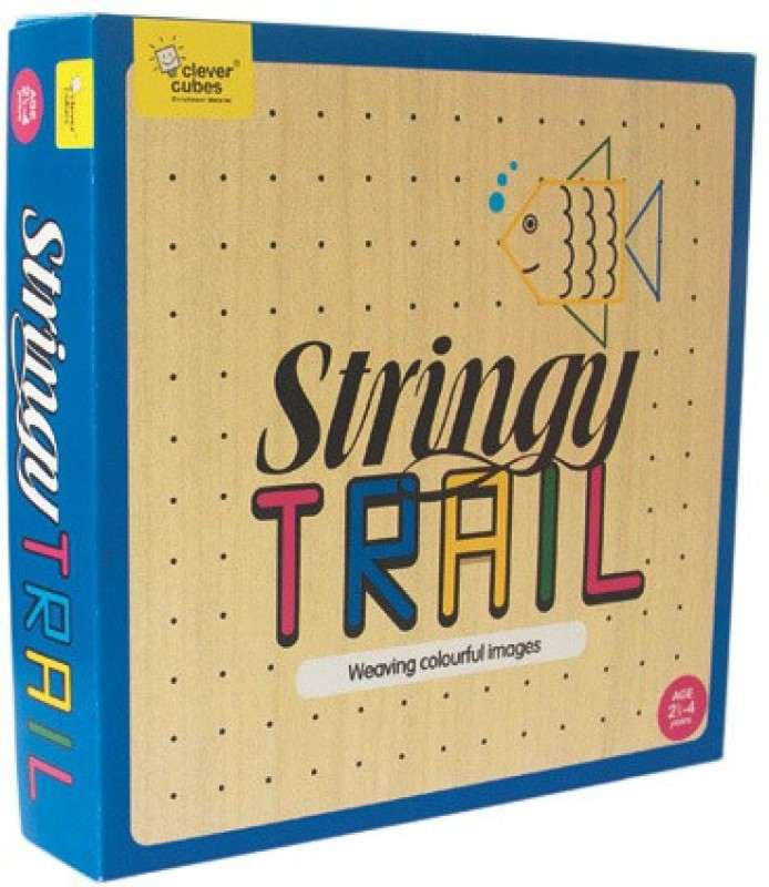 Clever Cubes Stringy Trail Board Game
