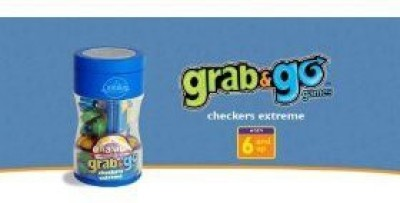 Cranium Grab & Go Checkers Extreme Board Game