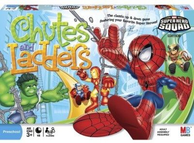 Hasbro Chutes And Ladders Super Hero Squad Board Game