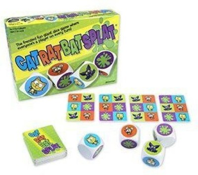 Pressman Toy Cat rat bat splat Board Game