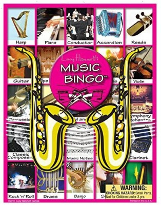 Lucy Hammett Games Music Bingo Board Game