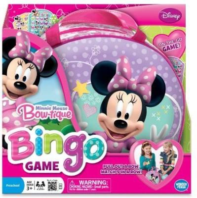 Wonder Forge Minnie Mouse Bowtique Bingo Board Game