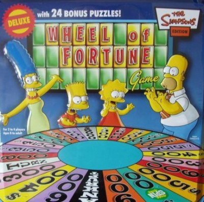 Pressman Toy The Simpsons Wheel Of Fortune Deluxe Edition With 24 Bonus Board Game