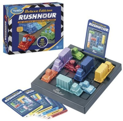 Think Fun Thinkfun Rush Hourthe Ultimate Traffic Jam Deluxe Edition Board Game