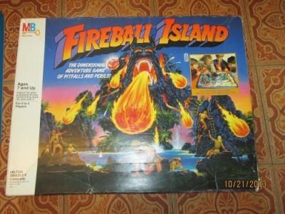 Milton Bradley Fireball Island Adventure (Rare) Board Game