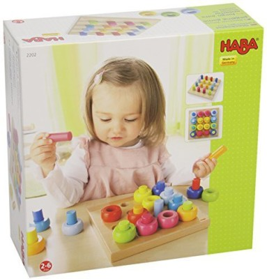 HABA Rainbow Whirls Pegging (32 Pcs) Board Game