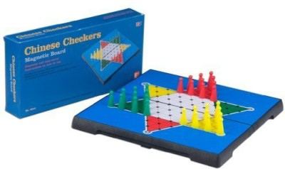Yellow Mountain Imports Travel Magnetic Chinese Checkers Set Board Game