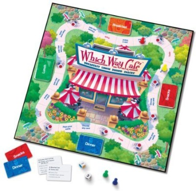 Learning Resources Which Way Cafe Nutrition (Ler3349) Board Game