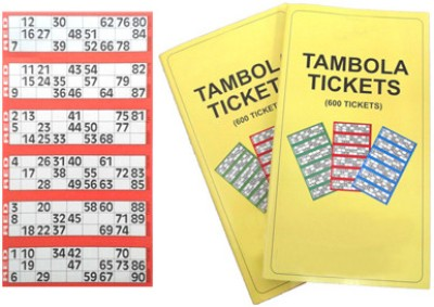 Tambola-Bingo Supermarket Tickets-Red Border Board Game