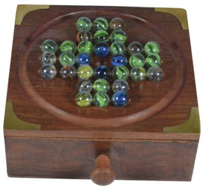 Craftuno Handcrafted Wooden Solitaire Board Game