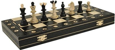 Wegiel Black Consul Handcrafted Tournament Wooden Chess 19 X 19