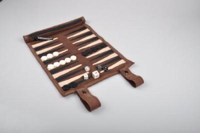 Sondergut Rollup Suede Backgammon (Colormocha) Board Game
