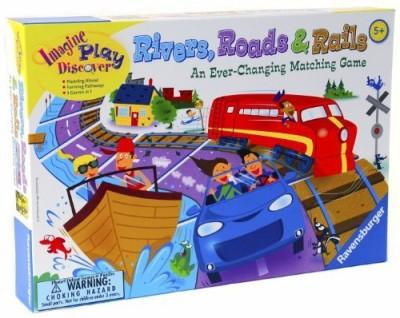 Ravenburger Puzzles Riversroads & Rails Everchanging _ New Revised 2011 Edition Board Game