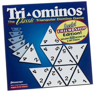 Pressman Toy Triominos The Classic Triangular Domino Special Friendship Board Game