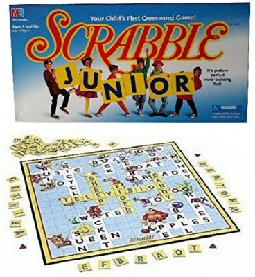 Milton Bradley Scrabble Junioryour Child,S First Crossword (1997 Vintage) Board Game