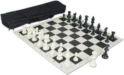 The Chess Store Value Club Kit With Small Tournament Bag Black Board Game