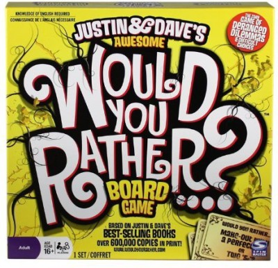 Spin Master Games Would You Rather Board Game